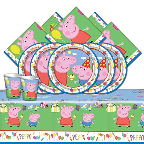 Peppa Pig kit Anniversaire 8 Personnes