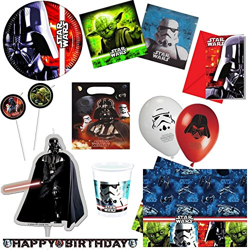 Kit d coration anniversaire star wars complet - Deco star wars anniversaire ...