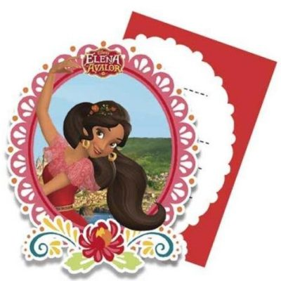 cartes d'invitation Elena d'Avalor