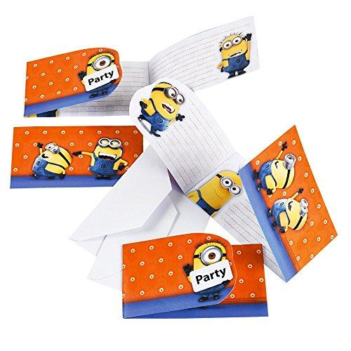 Cartes d'invitation Moi Moche et Méchant - Minions