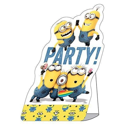 8 Invitations d'anniversaire Les Minions enveloppes incluses