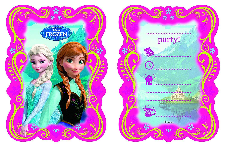 cartes invitation reine des neiges
