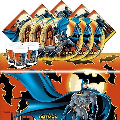 Kit de fête Batman pour 16 personnes, anniversaire garçon