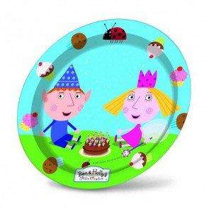 8 Assiettes Le Petit Royaume de Ben et Holly, anniversaire premier age