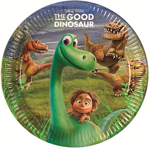 8 assiettes le voyage d'Arlo, anniversaire dinosaure