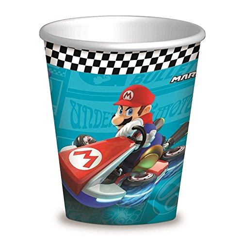 Gobelets Super Mario Kart pour goûter d'anniversaire garçon