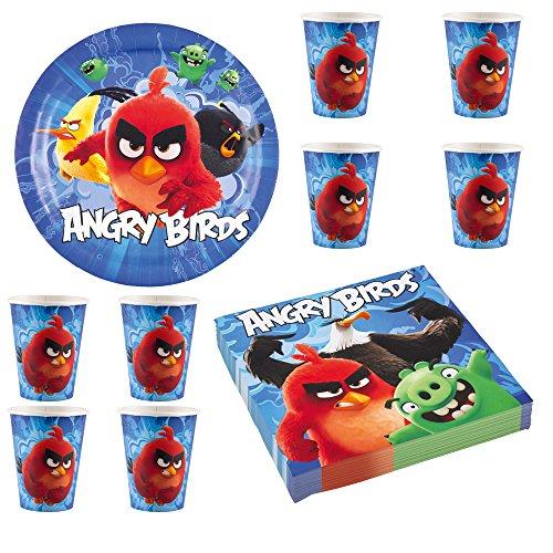 angry birds kit vaisselle jetable anniversaire pour 8 enfants. Black Bedroom Furniture Sets. Home Design Ideas
