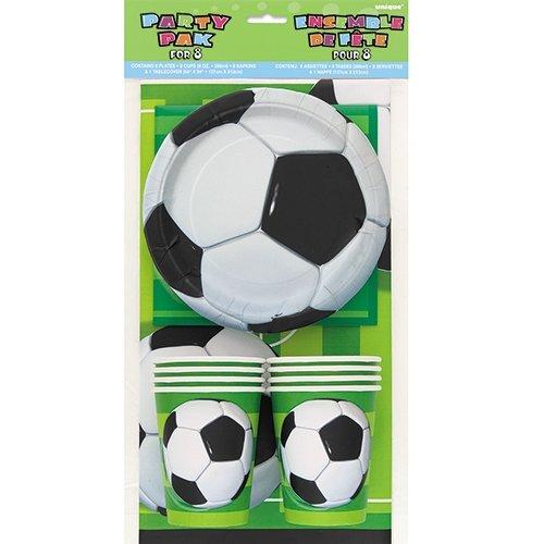 Pack Gouter anniversaire foot pour 8 enfants, kit anniversaire pas cher