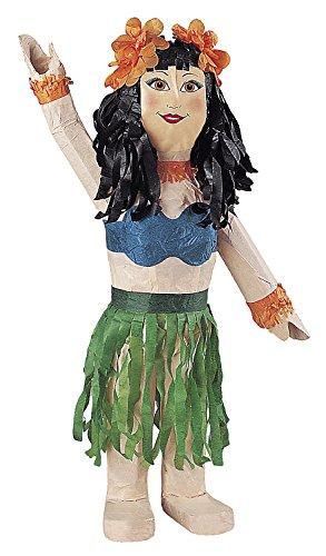 Piñata vahiné pour organiser un anniversaire vaiana ou une fête hawaï