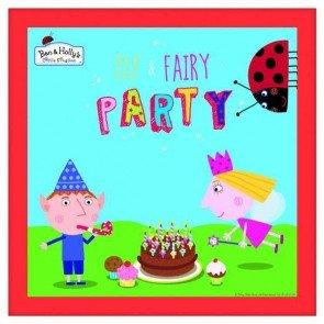 16 Serviettes Le Petit Royaume de Ben et Holly pour goûter d'anniversaire