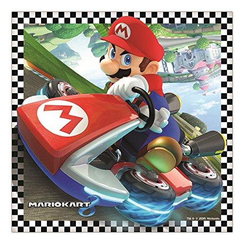 16 Serviettes anniversaire Super Mario Kart pour goûter d'anniversaire
