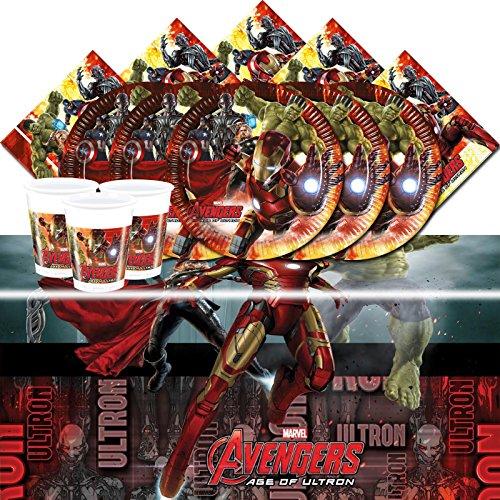 Kit anniversaire Les Avengers L'Ère d'Ultron pour 16 personnes