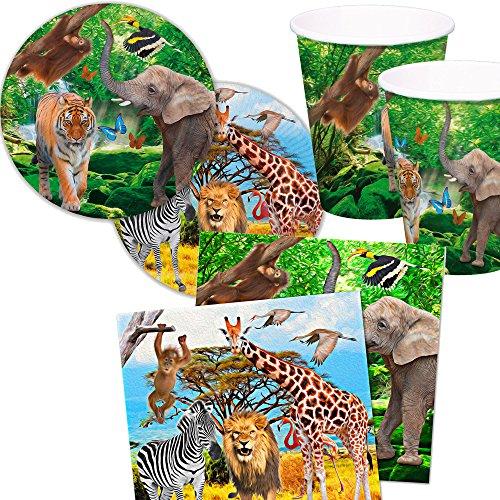 Kit anniversaire Safari et Zoo
