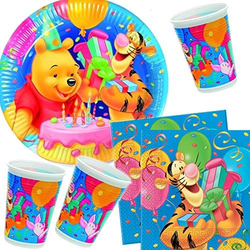 Kit anniversaire Winnie l'Ourson pour 10 enfants