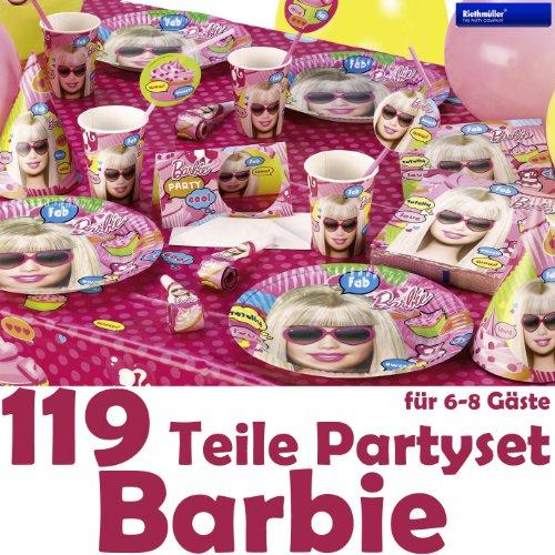 Mega kit anniversaire Barbie 119 pièces pour 8 enfants