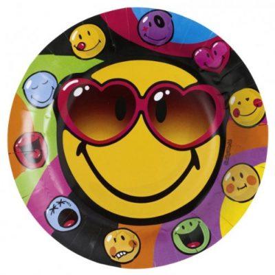 Assiettes Smiley Express - 23 cm pour préparer un anniversaire d'ados