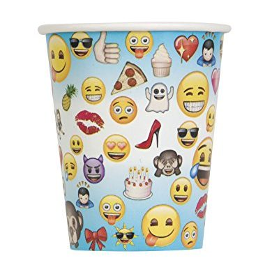 Lot de 8 gobelets Emoji 250 ml