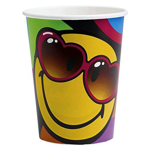8 Gobelets Smiley Fun, anniversaire smiley pour adolescents
