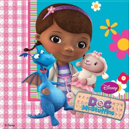 Serviettes en papier Docteur La Peluche, anniversaire fille 4 ans