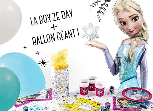 La Box Ze Day Reine des Neiges avec ballon géant, kit anniversaire fille