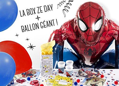 La Box Ze Day Spiderman, kit anniversaire pour garçon