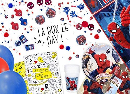 La Box Ze Day Spiderman - kit anniversaire clé en mains pour garçons
