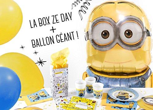 La Box Ze Day les minions avec ballon géant, kit anniversaire les minions