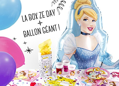 La Box Ze Day Princesses Disney et son ballon géant, kit anniversaire fille