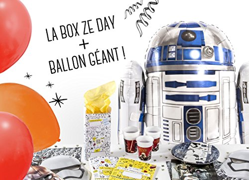 La Box Ze Day Star Wars et ballon géant R2D2, kit anniversaire star wars