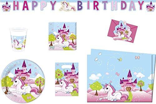 Kit pour fête d'anniversaire licorne, kit anniversaire fille pas cher