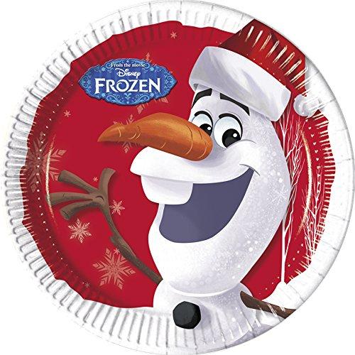 Assiette Noël Disney avec Olaf pour un goûter de noël pour enfants