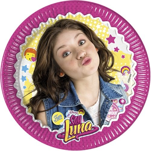 8 Assiettes Soy Luna 23 cm, anniversaire Disney Soy Luna