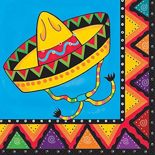 20 Serviettes en papier sur le thème du mexique pour décorer la table
