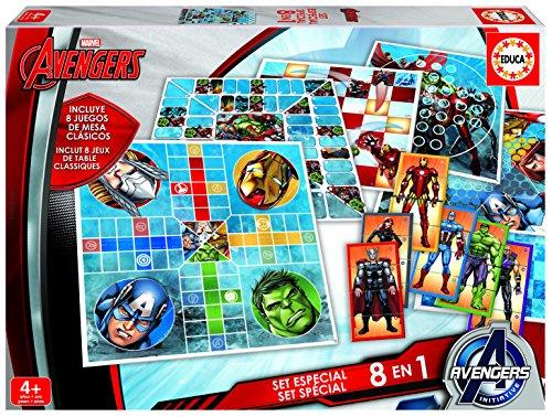 Boîte de 8 Jeux Avengers, idée cadeau anniversaire pour garçon de 4 ans