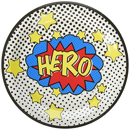 Assiette Comics super-héros, anniversaire pas cher pour garçon