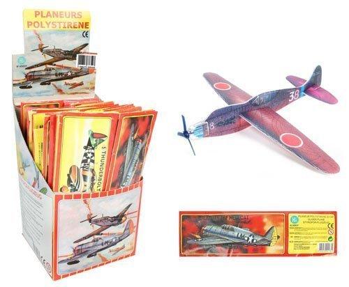 Pack de 12 avions styro à monter, planeur en polystyrène pour pinata