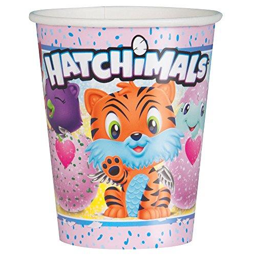 Gobelets Hatchimals en carton pour déco de table d'anniversaire fille