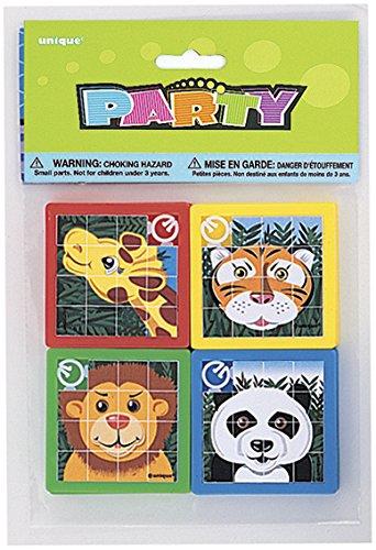 Paquet de 10 jeux de pousse pousse animaux, puzzle coulissant