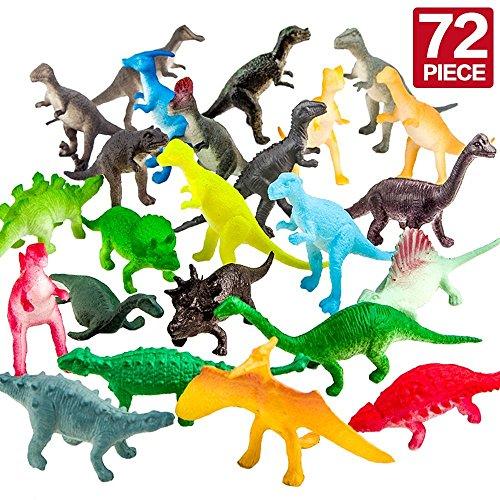 Lot de 72 mini Dinosaures en plastique, jouet pour remplir la pinata