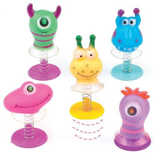 Lot de 6 monstres sur ressort, jouets pour remplir la pinata