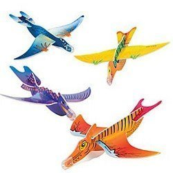 Lot de 6 planeurs en mousse dinosaure, jouet pinata pour anniversaire