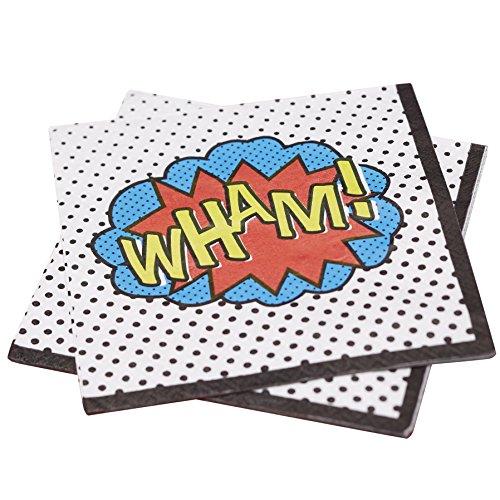 Serviettes WHAM Comics super-héros, anniversaire pas cher