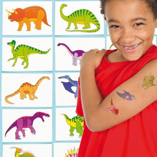 Lot de 24 Tatouages Dinosaure pour remplir la pinata dinosaure