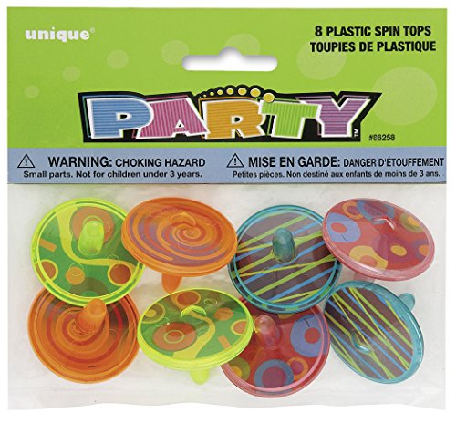 8 toupies en plastique, jouet pour remplir une pinata