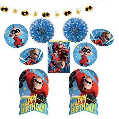 Kit décoration anniversaire Les Indestructibles 2 pour fête d'enfant