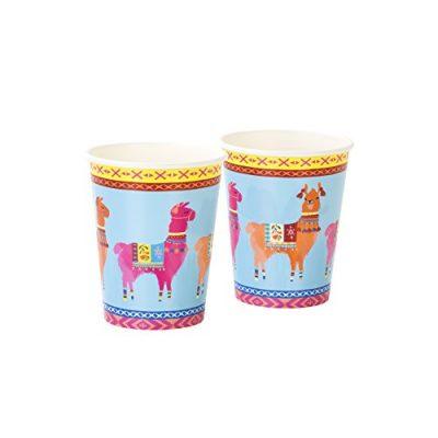 Gobelets boho lama, décoration de table pour soirée péruvienne et festive
