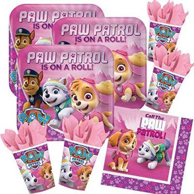 Kit anniversaire paw patrol rose fille